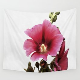 Pink Hollyhock Wall Tapestry