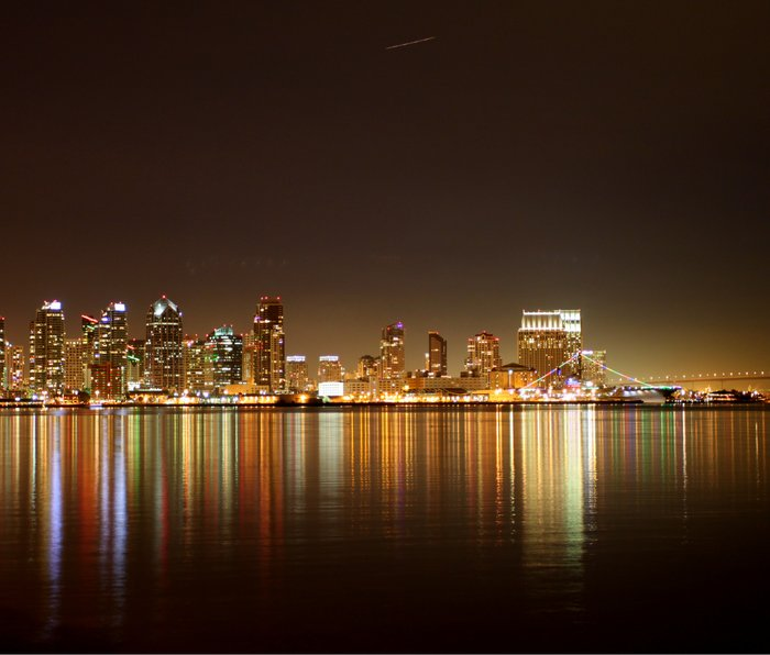 San Diego Skyline Night Metal Travel Mug