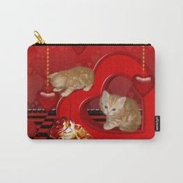 Cute, playing kitten Carry-All Pouch