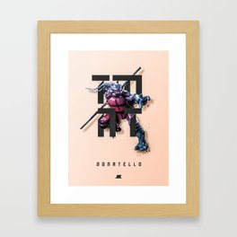 Heroes and Villains Series 2: Donatello Framed Art Print