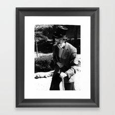 A Curious Brow Framed Art Print