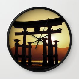 Miyajima Torii Gate Wall Clock