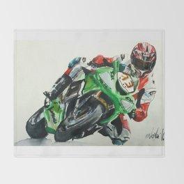 Moto racer Throw Blanket