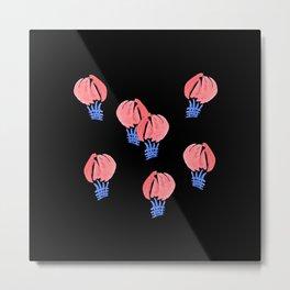 Air Balloons on Black Metal Print