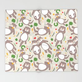 Significant otters Throw Blanket