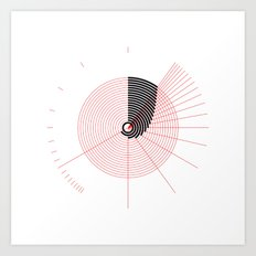 #263 Nineteen arcs (of the same length but different radii) – Geometry Daily Art Print