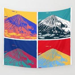 Mt. Fuji Pop Art Wall Tapestry