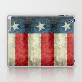 Texas flag, Retro style Vertical Banner Laptop & iPad Skin