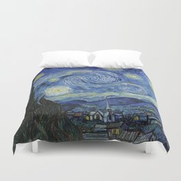 The Starry Night by Vincent van Gogh Duvet Cover