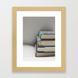 Vintage Books 2 - Book series Framed Art Print