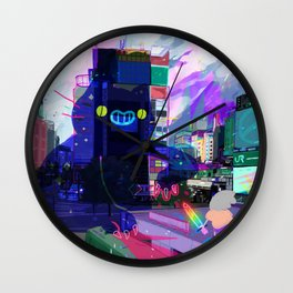 BAD NEWS CAT Wall Clock