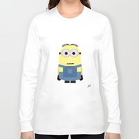 minion Long Sleeve T-shirts featuring Minion by finkledink1997