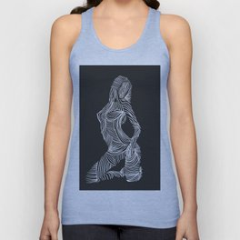 Line Drawing of a Lady Unisex Tank Top