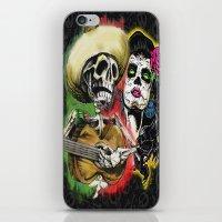 dia de los muertos iPhone & iPod Skins featuring Dia de Los Muertos by Kevin Rogerson