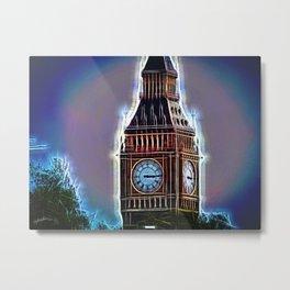 Iluminated Big Ben Metal Print