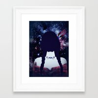 india Framed Art Prints featuring INDIA by Nika