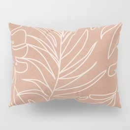 Engraved Tropical Line Pillow Sham