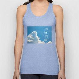 Sky's the limit - cloudscape Unisex Tank Top
