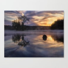 Early One Morning at the Pond Canvas Print