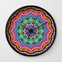 carnival Wall Clocks featuring Carnival by Groovity