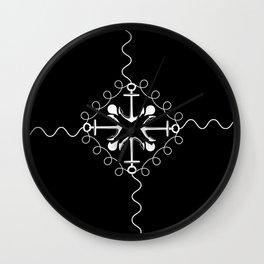 Whitened Wall Clock