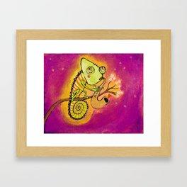 Chameleon in love Framed Art Print