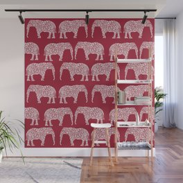 Alabama bama crimson tide elephant state college university pattern footabll Wall Mural