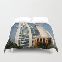 arab Duvet Covers featuring Dubai - Burj Al Arab by gdesai