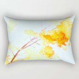 Yellow Maple leaves, Autumn Unfolds Rectangular Pillow