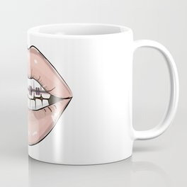 Lips vs braces Coffee Mug