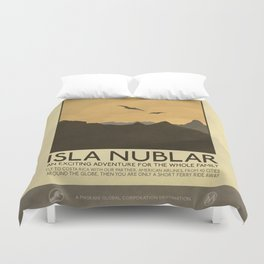 Silver Screen Tourism: Isla Nublar / Jurassic Park World Duvet Cover