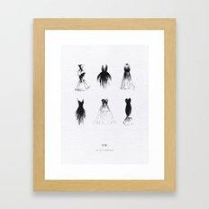 Little Black Dress Collection Framed Art Print