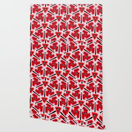 Fidget from the Black & White & Red All Over Collection Wallpaper
