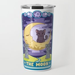 The Moon - Cute Kawaii Anime Tarot Card T-Shirt Travel Mug