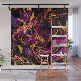 Fluid Abstract 40; Emotional Outburst Wall Mural