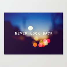 never look back Canvas Print