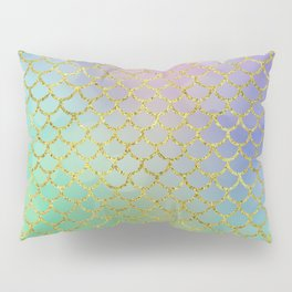 Sea-Green Mermaid Scales Pattern Pillow Sham