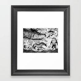 Fantasy Cave Painting Framed Art Print