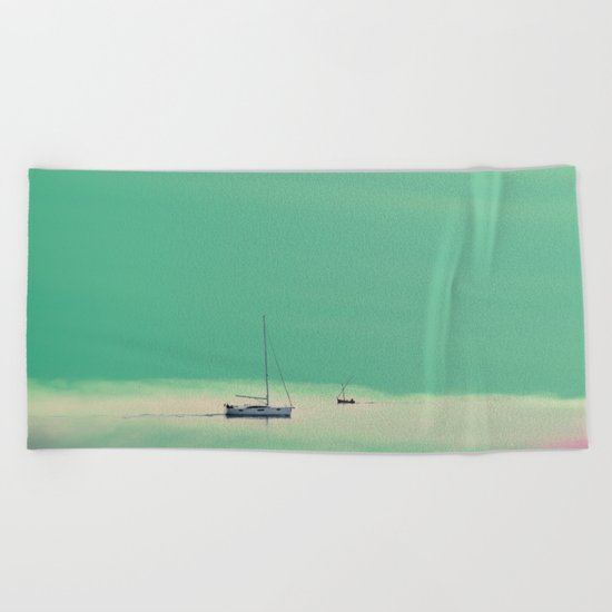 Smell the sea and feel the sky Beach Towel