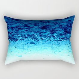 Blue Crystal Ombre Rectangular Pillow