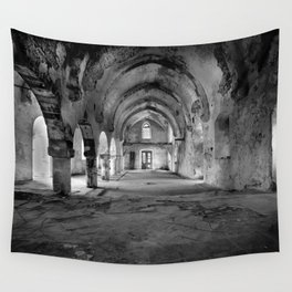 A derelict churh in Northern Cyprus Wall Tapestry