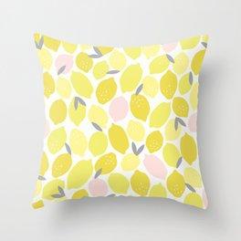 Pink Lemonade Print Throw Pillow