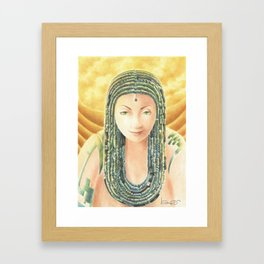 Portrait in the Desert Framed Art Print