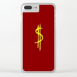 Symbol of dollar 1 Clear iPhone Case