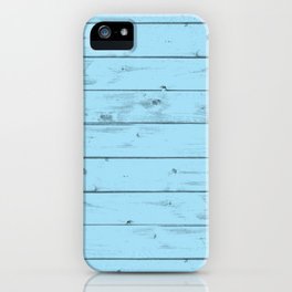 Blue Wood Texture iPhone Case