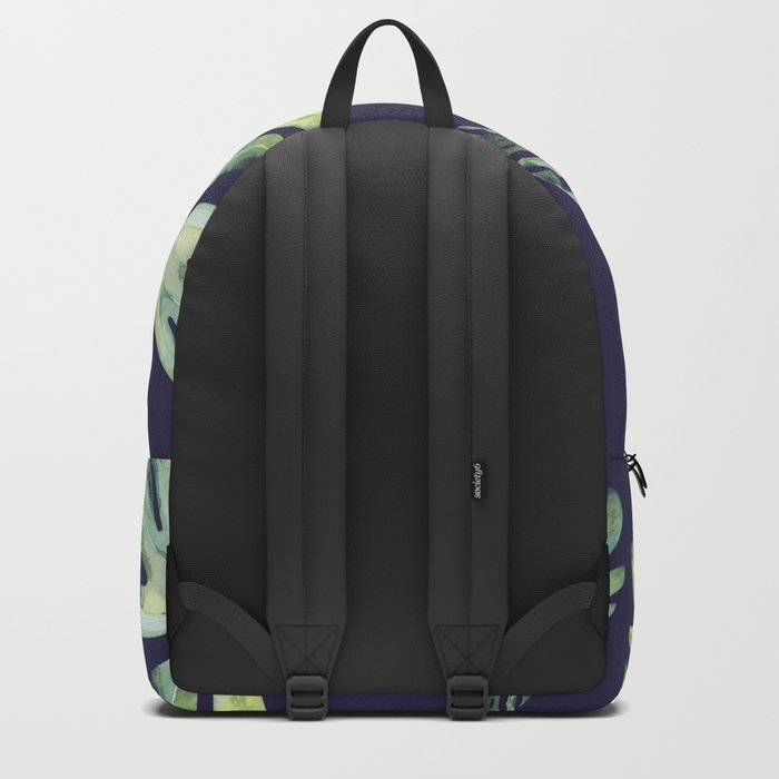 Monstera Pattern Blue #society6 Backpack