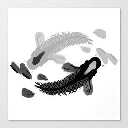 Yin-Yang oriental Koi fish Canvas Print