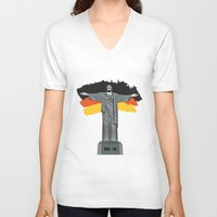brasil V-neck T-shirts featuring Brasil 2014 by andy551