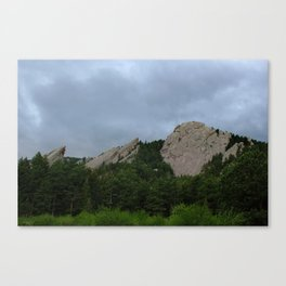 Stormclouds over the Flatirons Canvas Print