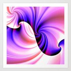 Part of a Wave (violet-orchid) Art Print